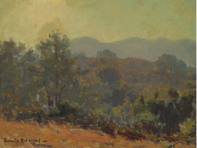 G. Redmond, Sketch of the hills, oil, 9 x 12in
