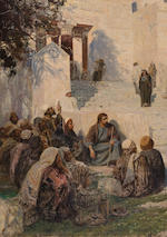 Vasili Dimitrievich Polenov (Russian, 1844-1927) 'He who is without sin', 1907