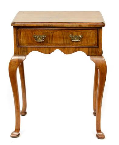 A George II style walnut side table