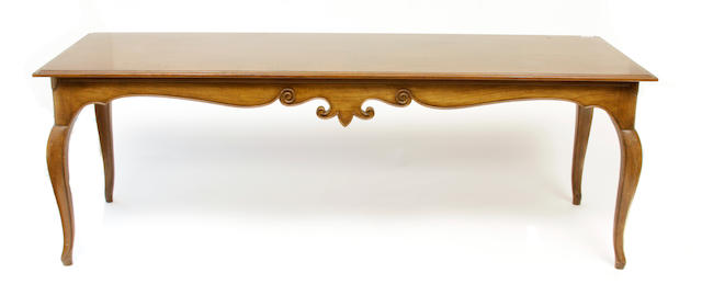 A Louis XV style walnut writing table