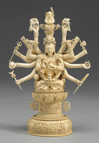 An ivory figural carving