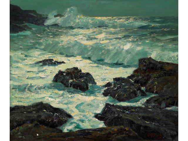 (n/a) William Frederick Ritschel (American, 1864-1949) Moonbeams, California Coast 25 1/4 x 31 1/4in