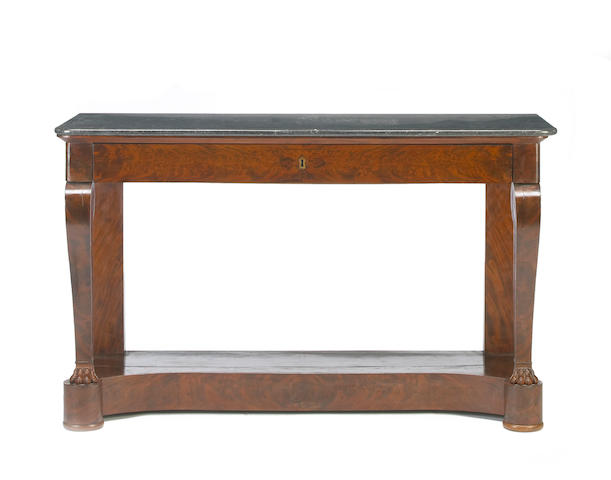 An Empire mahogany console table early 19th century