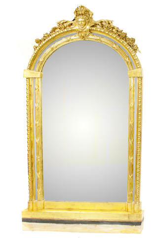 A large Régence style giltwood mirror
