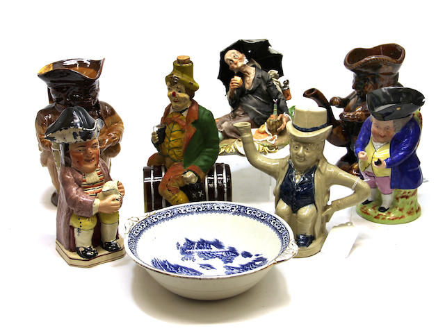 An assembled group of European character ceramics 19th/20th century
