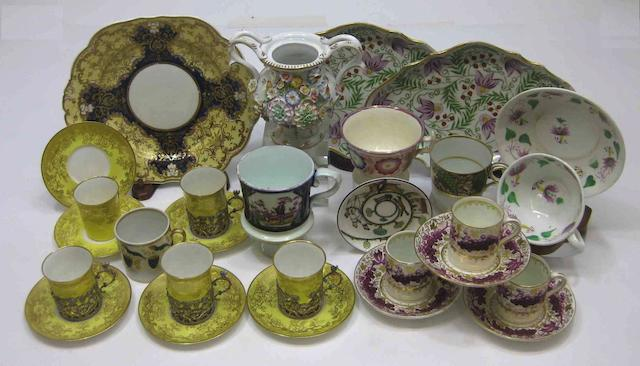 An assembled group of English ceramics 19th/first half 20th century