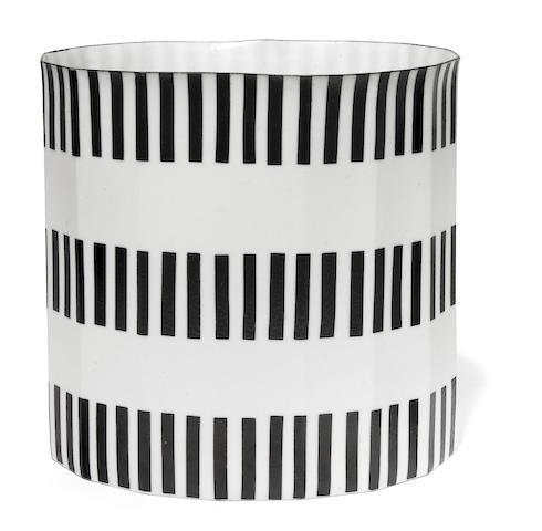 Bodil Manz (Danish, born 1943)  Cylindrical Vessel, circa 2000