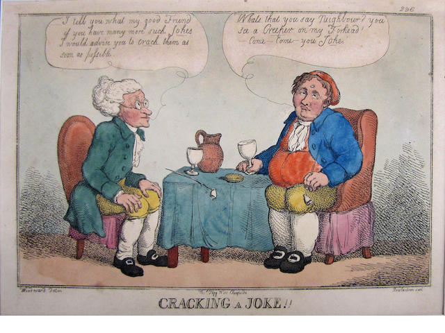 Thomas Rowlandson (British, 1756-1827); A Plan for General Reform; Cracking a Joke!; (2)