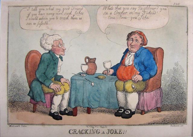 Thomas Rowlandson (British, 1756-1827); A Plan for General Reform; Cracking a Joke!; (2)