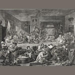 William Hogarth (British, 1697-1764); An Election Entertainment; (4)