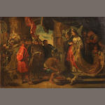 After Sir Peter Paul Rubens Head of Cyrus brought to Queen Tomyris 16 1/2 x 24in