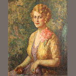 Mischa Askenazy (Russian/American, 1888-1961) Portrait of a lady 30 x 25in