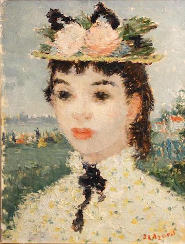 Dietz Edzard (German, 1893-1963) Head of a girl 14 x 10 1/2in