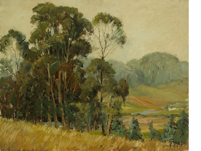George Demont Otis (American, 1879-1962) Across the valley  24 x 30in