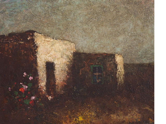 Will Sparks (American, 1862-1937) Abandoned adobe, New Mexico 8 x 10in