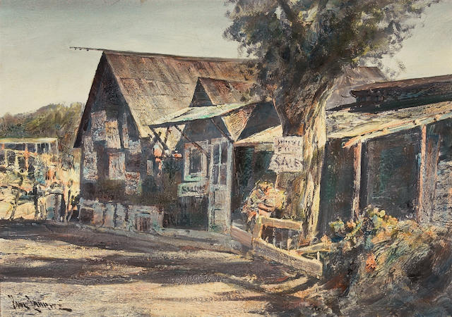 Paul Lauritz (Norwegian/American, 1889-1975) China camp, San Francisco 24 x 34in