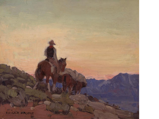 Edgar Payne (1883-1947) Lone packer 12 x 14in