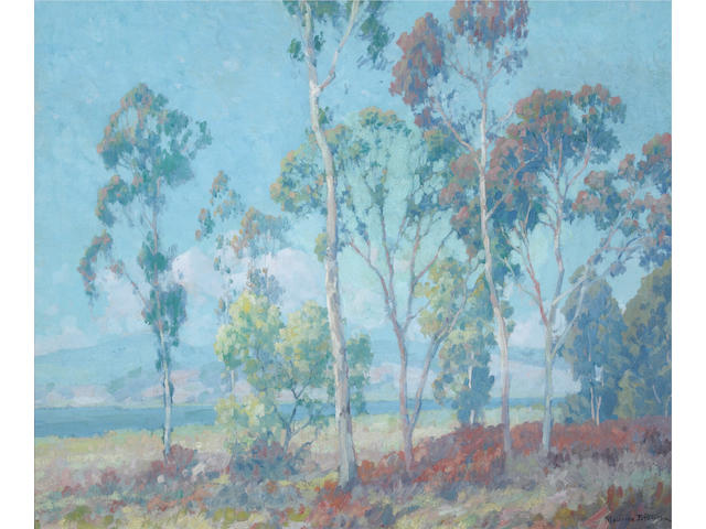 Maurice Braun (American, 1877-1941) Back Bay San Diego 25 1/4 x 30 1/4in