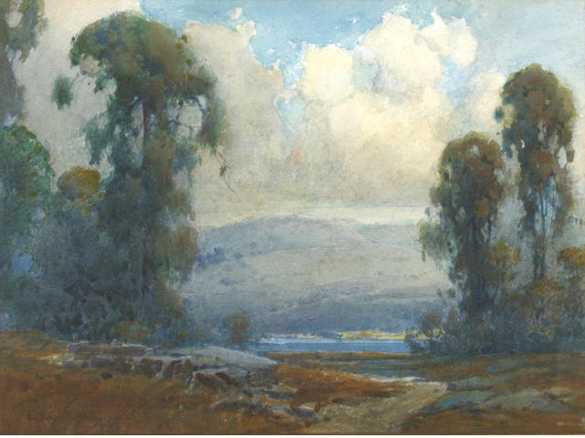 Percy Gray (1869-1952) Marin County Eucalyptus, 1926 10 x 13 3/4in