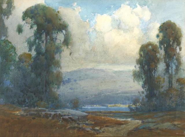 (n/a) Percy Gray (1869-1952) Marin County Eucalyptus, 1926 10 x 13 3/4in