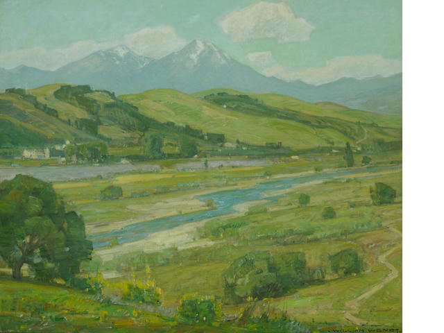 William Wendt (American, 1865-1946) San Juan Creek near the mission 30 1/4 x 36 1/4in