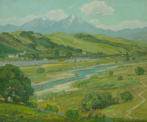 (n/a) William Wendt (American, 1865-1946) San Juan Creek near the mission 30 1/4 x 36 1/4in