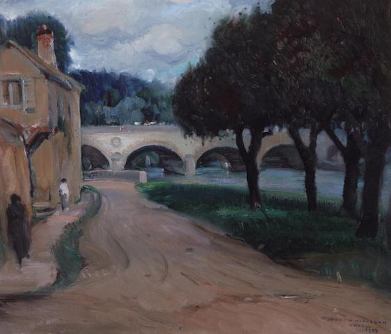 Joseph Kleitsch (1882-1931) Vernon River Scene, 1929 21 x 25in