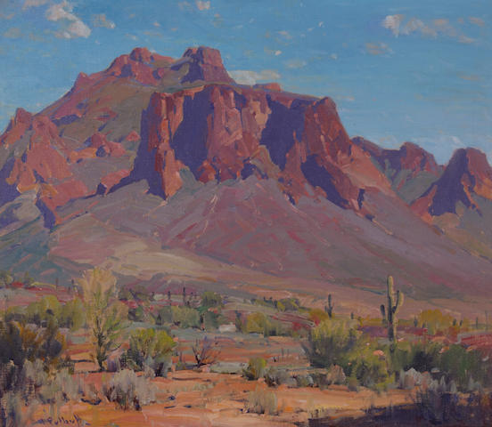 (n/a) Hanson Puthuff (American, 1875-1972) Desert rampart 26 1/2 x 30in