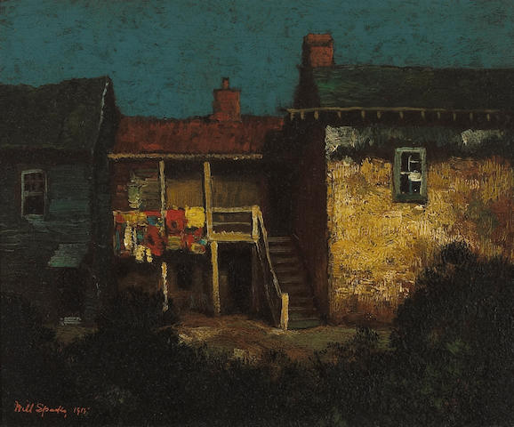 (n/a) Will Sparks (American, 1862-1937) Robert Louis Stevenson's house, Monterey, 1915 10 x 12in