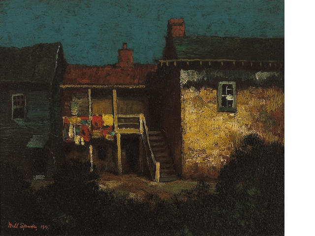 Will Sparks (American, 1862-1937) Robert Louis Stevenson's house, Monterey, 1915 10 x 12in