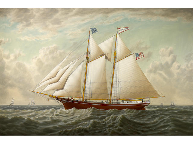 (n/a) Joseph Lee (American, 1827-1880) The California lumber schooner 'Mary E. Russ', 1867 32 x 48in