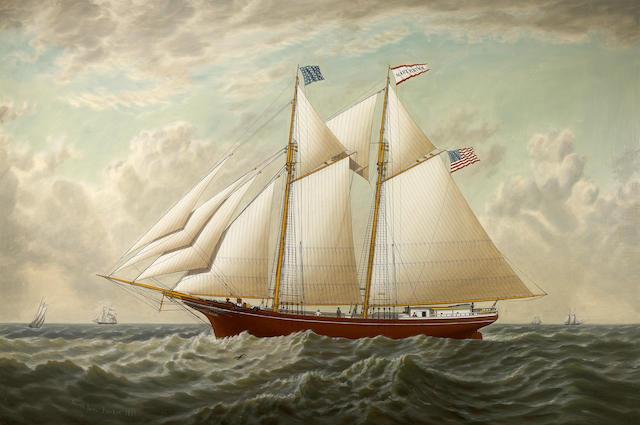 (n/a) Joseph Lee (American, 1827-1880) The California lumber schooner 'Mary E. Russ', 1867 32 x 48in