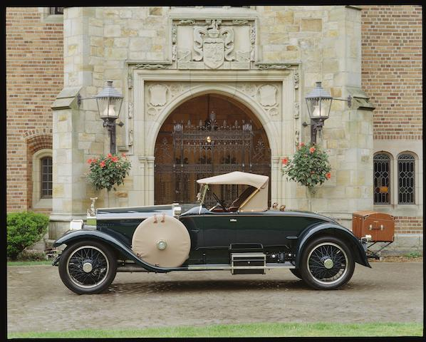 The first and the rarest American Roadster Body constructed by R-R America on a limited British 1920 High Speed R-R Chassis. Prototype Picadilly Roadster design, called a Runabout.   Ex-Seymour Knox Jr., two owners from new.,1920 Rolls-Royce 40/50hp Silver Ghost Gentleman's Roadster  Chassis no. 80 LE Engine no. N 267 H