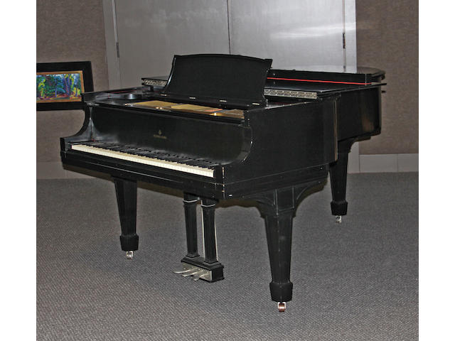 A Steinway ebonized case Model A