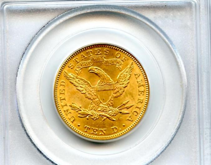1905 $10 PCGS MS63
