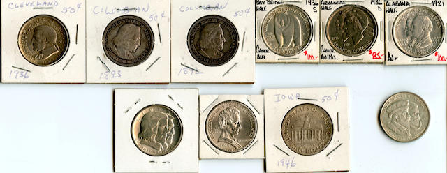 Commemorative Half Dollars (10)