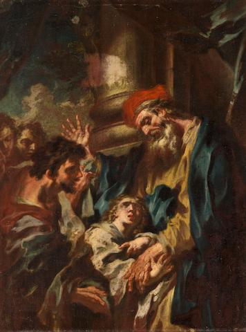 Attributed to  Return of the Prodigal Son 21 x 16in (53.3 x 40.6cm)