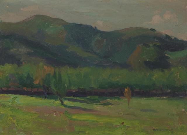 Armin Hansen (American, 1886-1957) Rancho de las Lomas, San Juan Canyon, California, 1918 10 x 14in