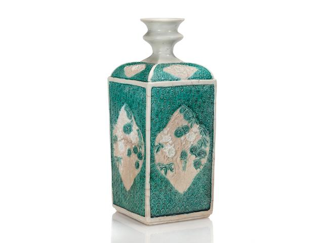 A rare and important porcelain bottle Arita ware, Kakiemon type, circa 1660