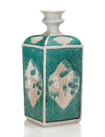 A rare and important porcelain bottle Arita ware, Kakiemon type, circa 1660