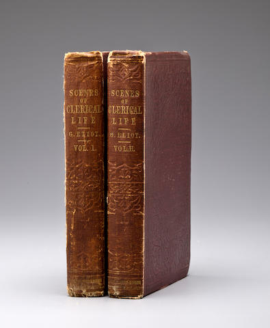 ELIOT, GEORGE. 1819-1880. Scenes of Clerical Life. Edinburgh and London: William Blackwood and Sons, 1858.