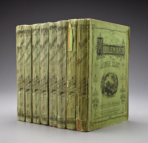 ELIOT, GEORGE. 1819-1880. Middlemarch. Edinburgh and London: William Blackwood & Sons, 1871-72.