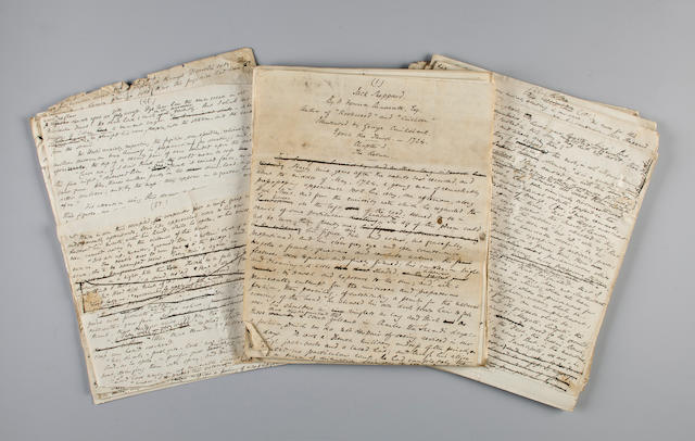 "AINSWORTH, WILLIAM HARRISON. 1805-1882. Autograph Manuscript for ""Jack Sheppard,"""