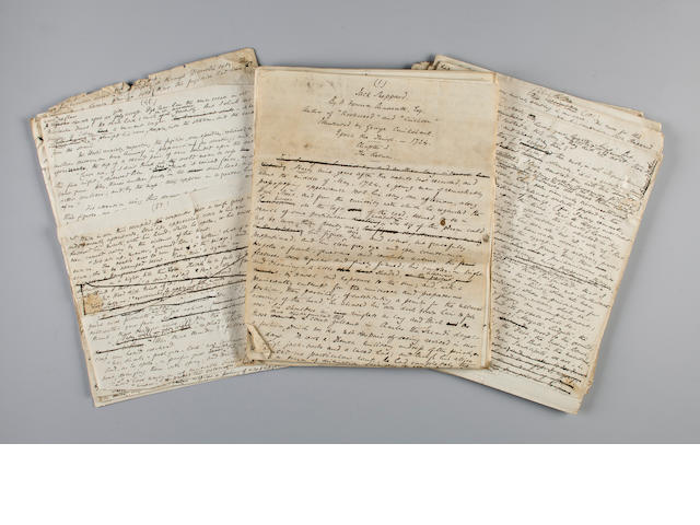 "Ainsworth, William Harrison Autograph drafts for two sections of ""Jack Sheppard"""
