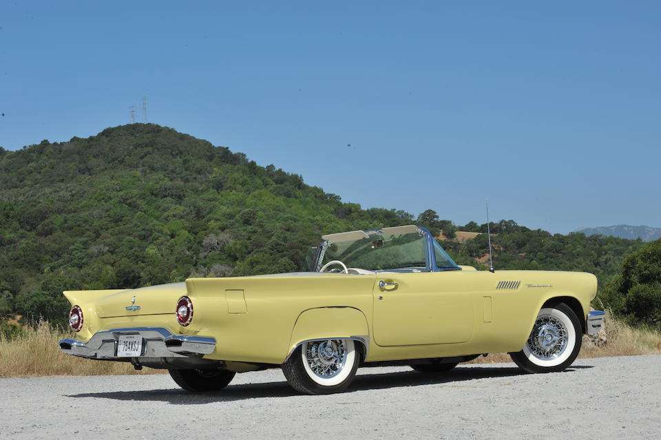 One of 1,363 factory E-Codes built,1957 Ford Thunderbird  Chassis no. E7FH139732