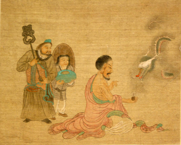 Anonymous (China, 19th/20th Century)  Twelve album paintings of luohan or scholars