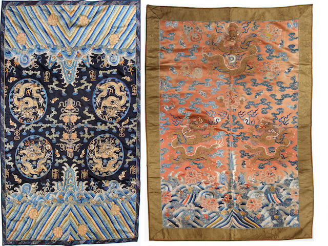 A group of four Chinese textiles