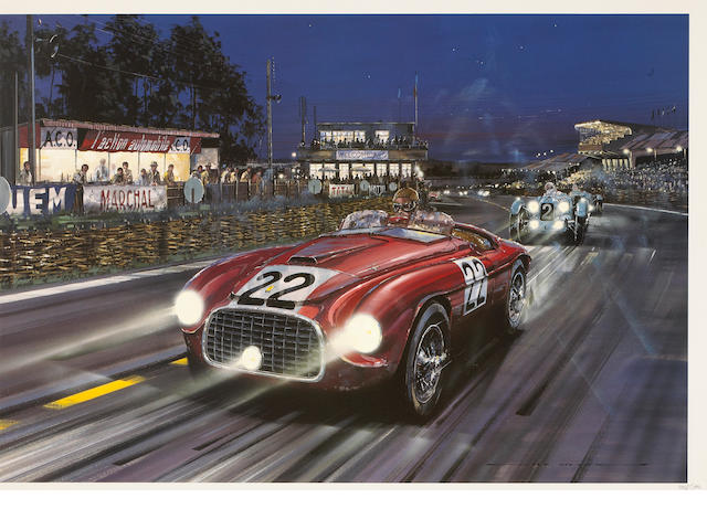 "A Nicholas Watts ""Victorious Debut"" signed by Chinetti,"