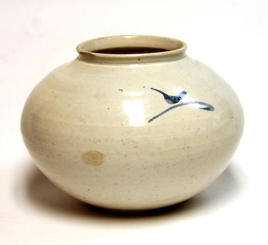 A blue and white porcelain jar Late Joseon dynasty