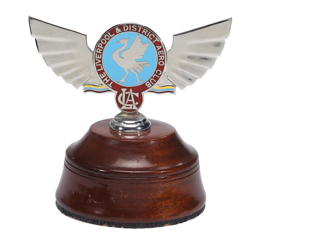A Liverpool Aero Club badge, circa 1930's,